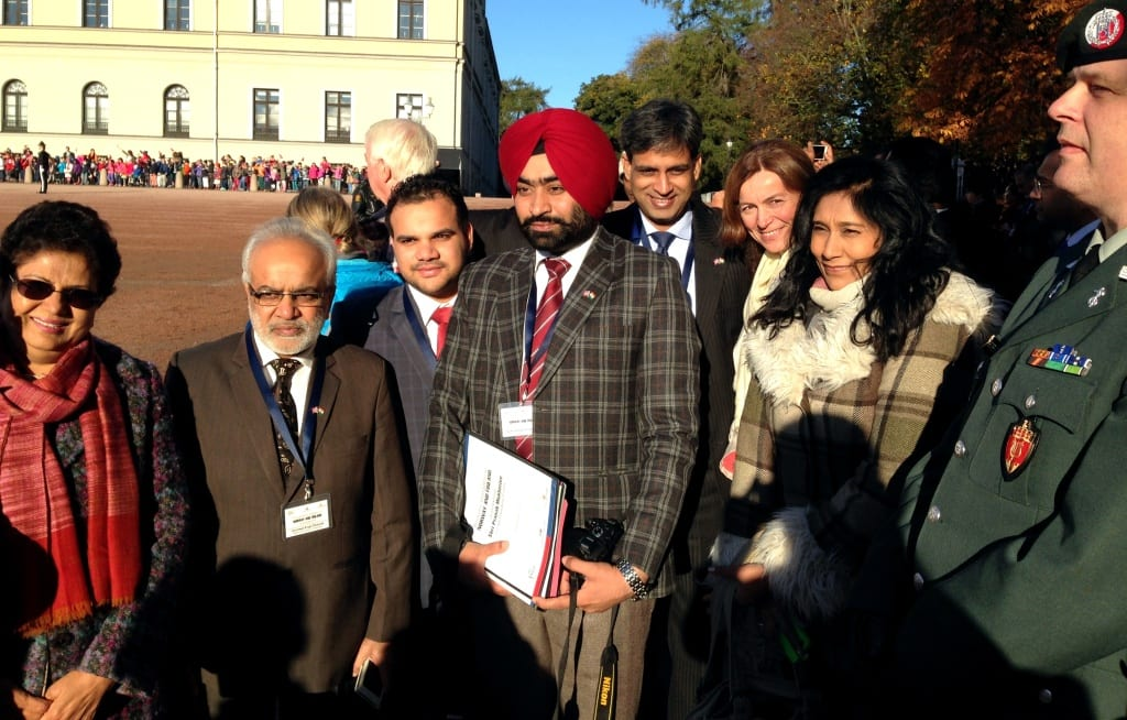Representatives from the Indian business delgation, Innovation Norway and NICCI - waiting for the President.