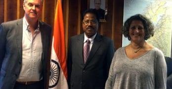 From left: NICCI General Secretary Trond Skundberg, Ambassador Debraj Pradhan and NICCI Chair Tima Iyer Utne.