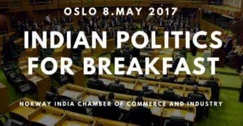 """""""Indian politics for breakfast"""" member meeting 8. May"""