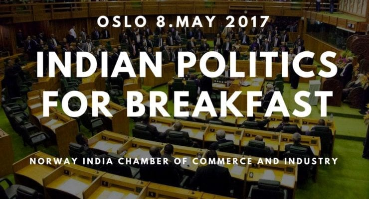 """Indian politics for breakfast"" member meeting co-organized with UiO"