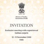 Expo and a Buyer Seller Meet (BSM) of handmade Indian carpets in Oslo 12th and 13th November